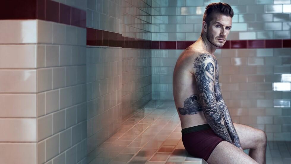 NY KOLLEKSJON: Til glede for mange kvinner vil David Beckham på nytt prege reklameplakatene rundt omkring i verden i forbindelse med sin nye undertøyskolleksjon. Foto: REX/H&M/All Over Press