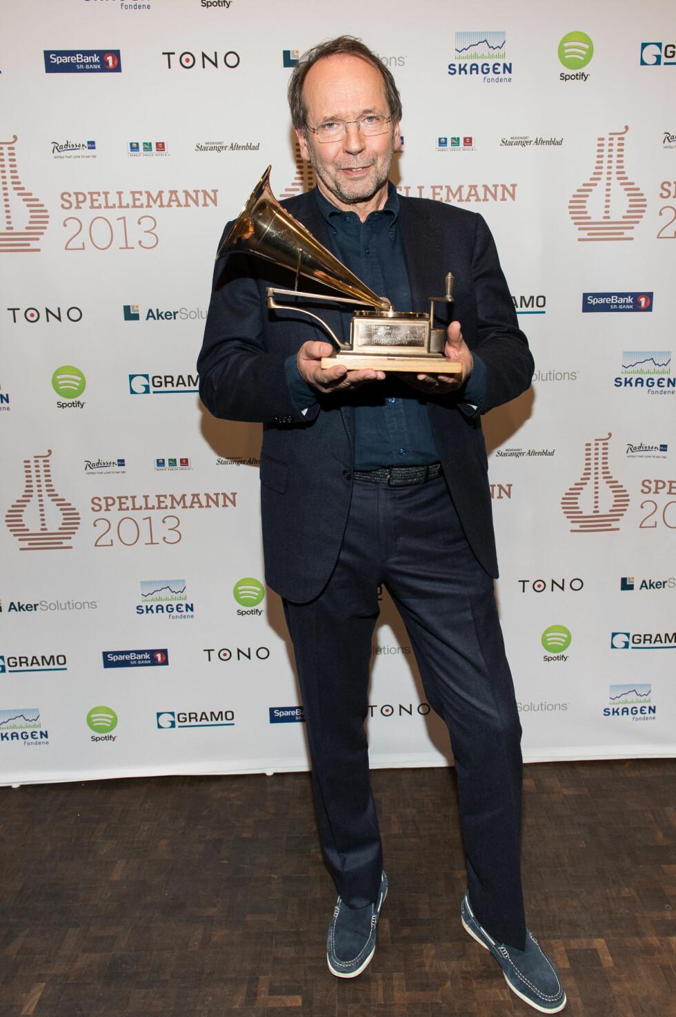 VANT: Ole Paus ble hedret med prisen årets spellemann i Stavanger lørdag kveld.  Foto: FameFlynet Norway