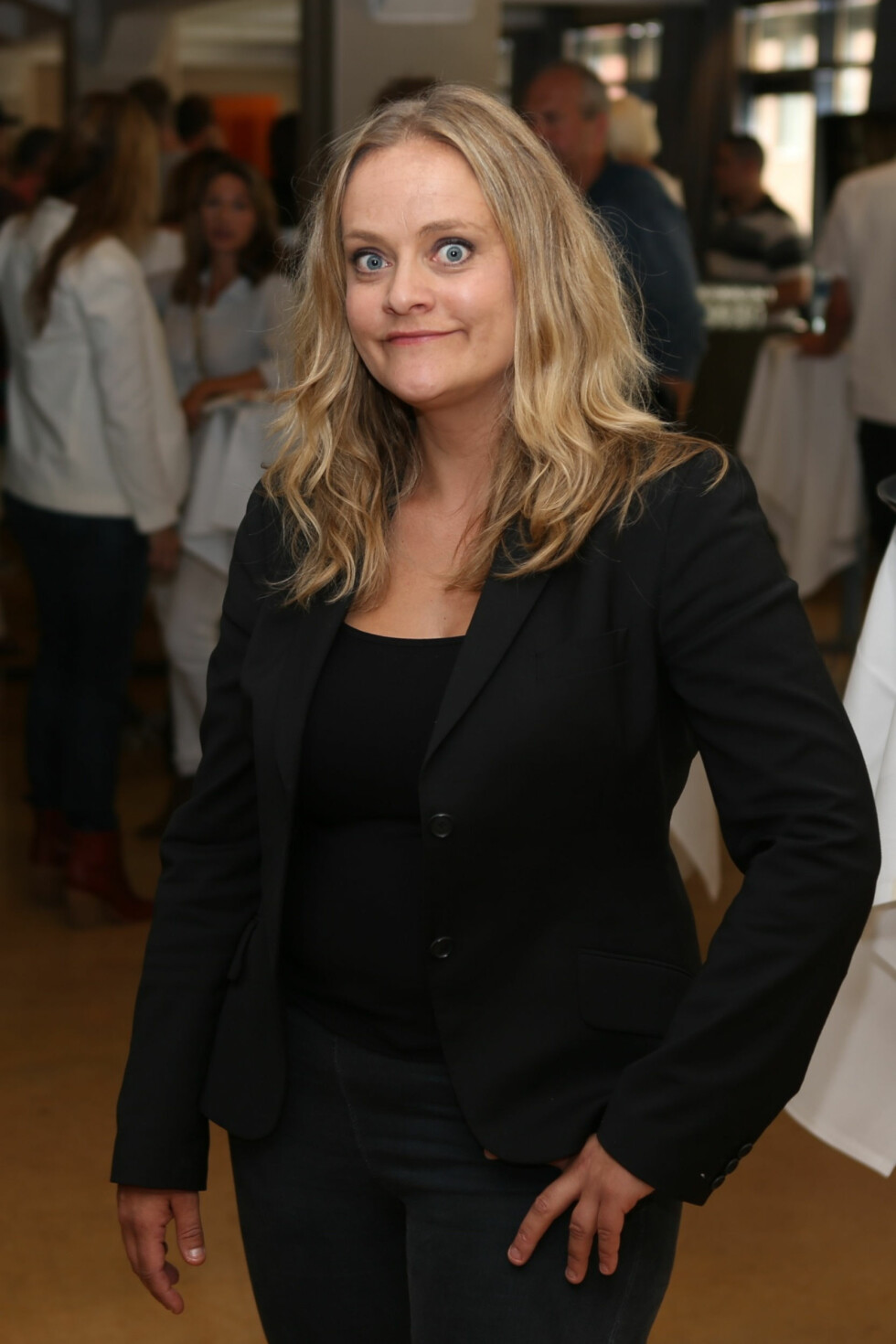 FÅR ROS: Anne Marit beundrer Henriette Steenstrup sitt forhold til sin egen kropp. Foto: FameFlynet