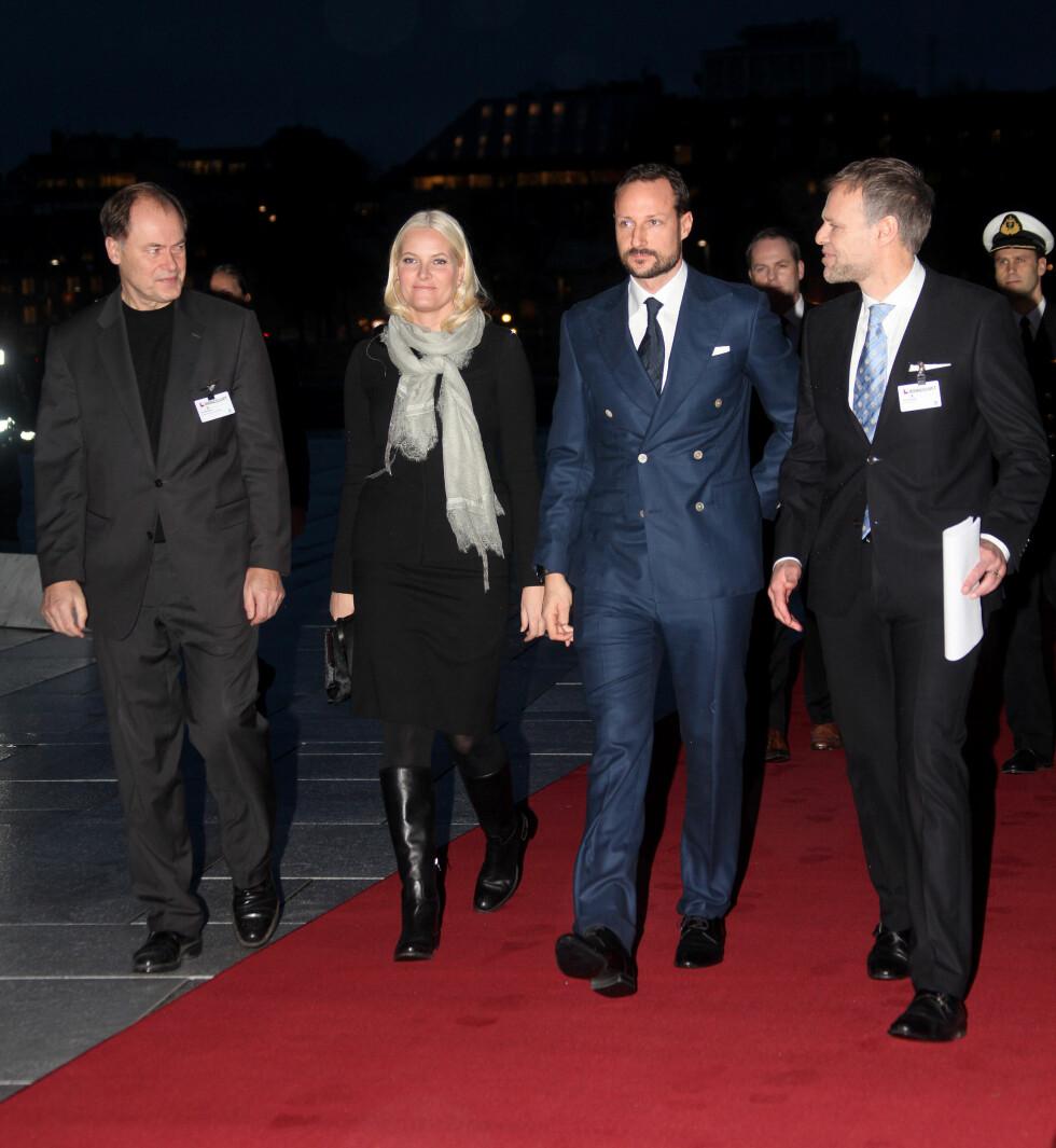 TILBAKE: Onsdag gjestet kronprins Haakon og kronprinsesse Mette-Marit NHOs årskonferanse i Operahuset i Oslo. Foto: Stella Pictures