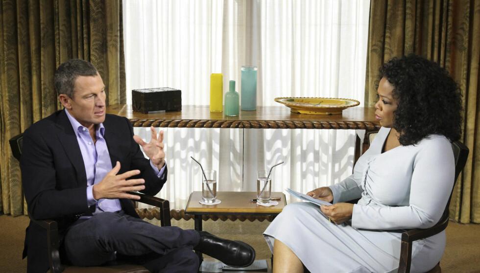 JUKSET I ALLE ÅR: Lance Armstrong tilsto til Oprah Winfrey at han dopet seg fra midten av 90-tallet og fram til 2005, og han selv ikke synes ikke han gjorde noe galt. Foto: NTB Scanpix