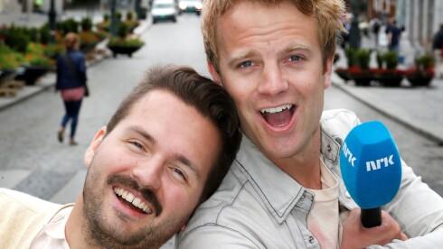 SUKSESS: Hasse Hope og Erik Solbakken gjør for tiden suksess på NRK1 med programmet «Karl Johan». Foto: NRK