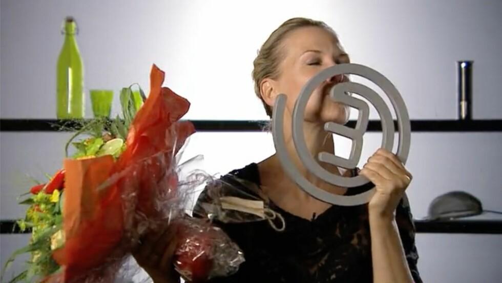 TROFÉ: Så glad ble Vibeke over å ha vunnet årets sesong av «MasterChef».