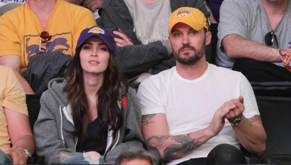 STARTET FAMILIE: Megan Fox og Brian Austin Green stortrives med sitt nye liv som småbarnsforeldre. Foto: All Over Press