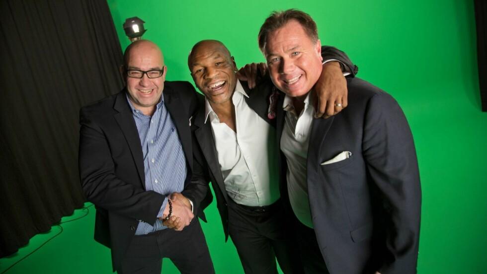 TØFFE KARER: Peter Alex Johansen og Morten Klein fant tonen med bokselegendene Mike Tyson under innspillingen. Foto: Thomas Engström