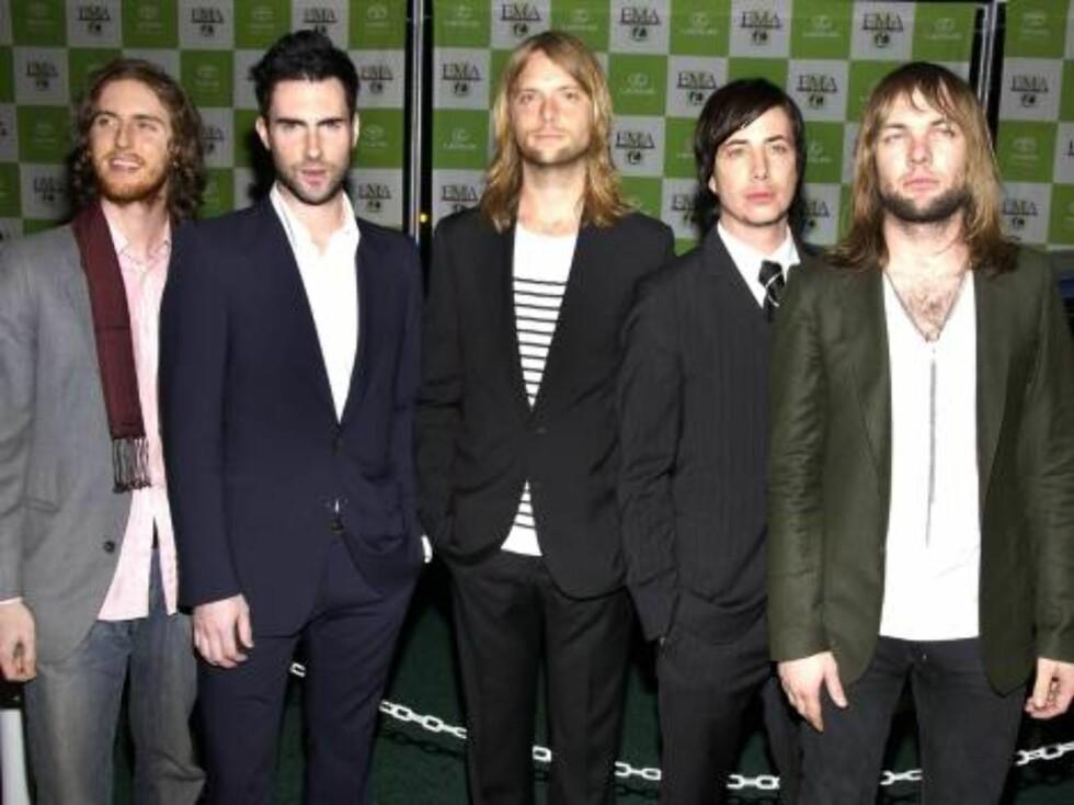 Annual Environmental Media Awards: Bandet Maroon 5. Foto: Stella Pictures