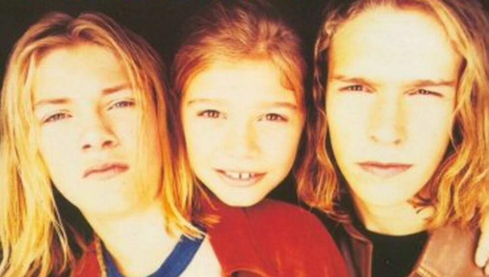 TENÅRINGSSTJERNER: Slik så brødrene Taylor, Zac og Isaac Hanson ut i 1997, da de ble superstjerner med låten «Mmmbop». Foto: Faksimile