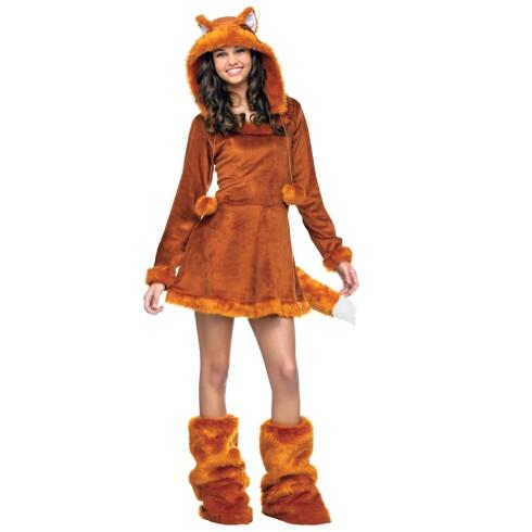 FOXY: Kundene strømmer til kostymeutsalgene for å få tak i revedrakten til årets Halloweenfeiring. Denne er fra nettstedet buycostumes.com. Foto: buycostumes