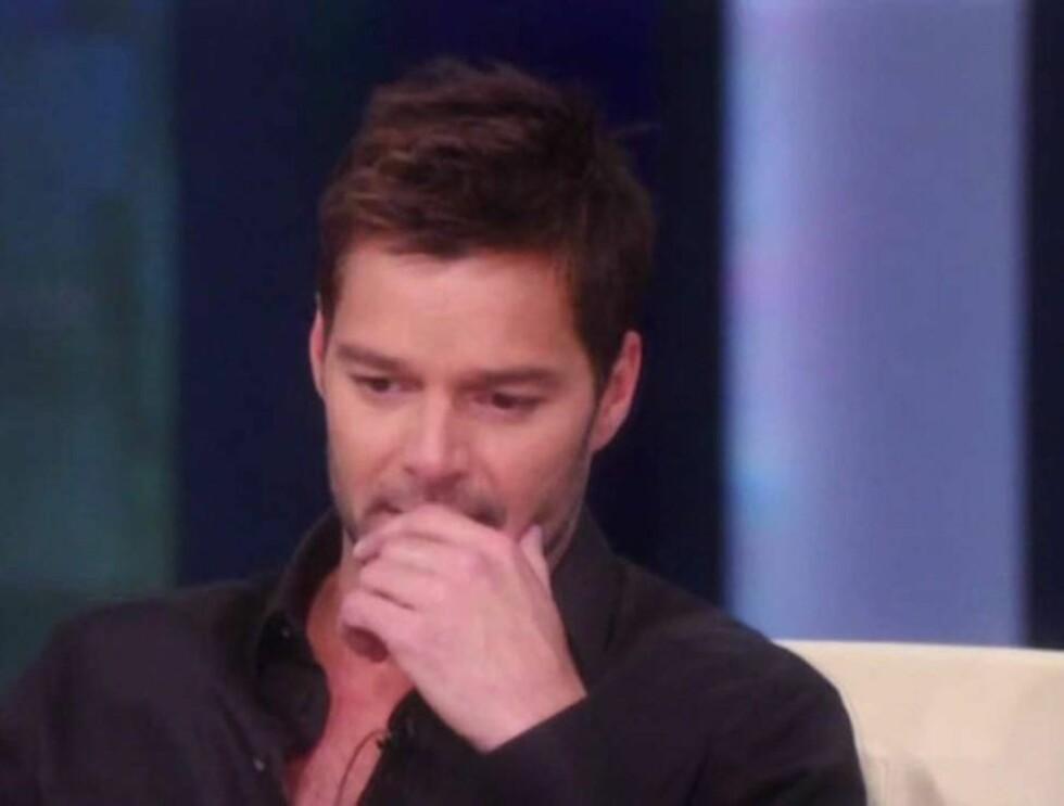 KNAKK SAMMEN: I et ferskt intervju med Oprah Winfrey, som sendes i USA denne uken, innrømmet Ricky Martin at han brast i gråt etter at han hadde bekreftet at han er homofil.  Foto: All Over Press