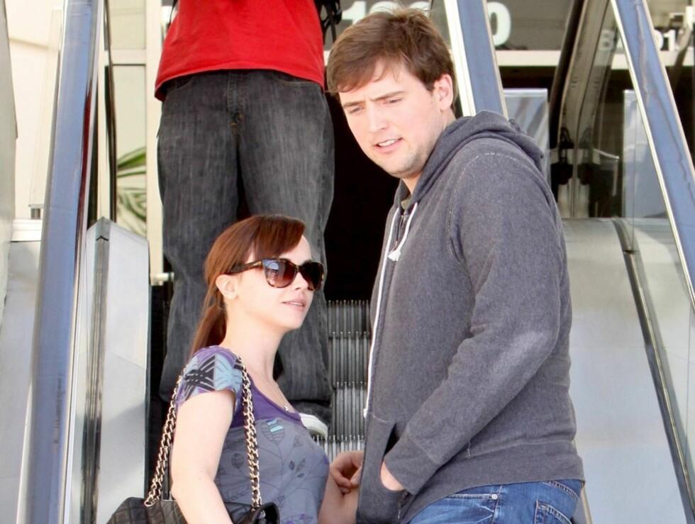 OVER: Christina og Benjamin har brutt forlovelsen, men er fortsatt gode venner.  Foto: All Over Press