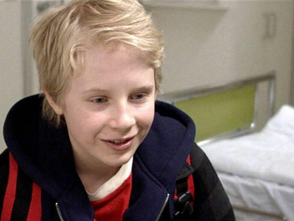 """DEBUTANT: Unge Odin Waage debuterer som sønnen Pål i """"Sammen""""."""