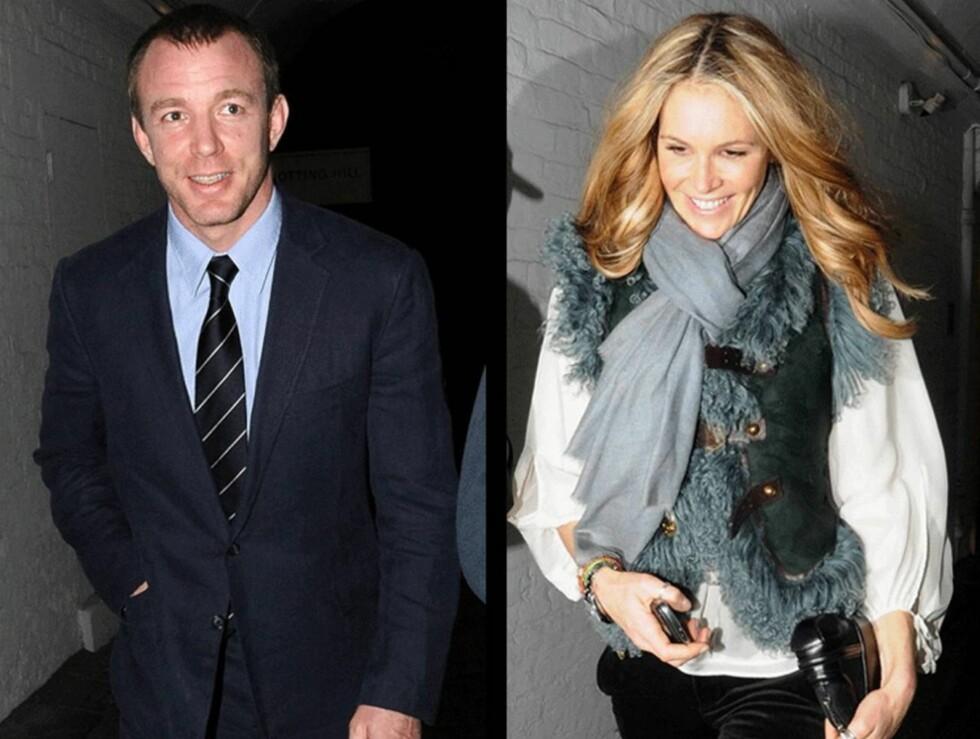 PÅ DATE: Guy Ritchie og Elle Macpherson spiste et romantisk måltid sammen i London mandag kveld.