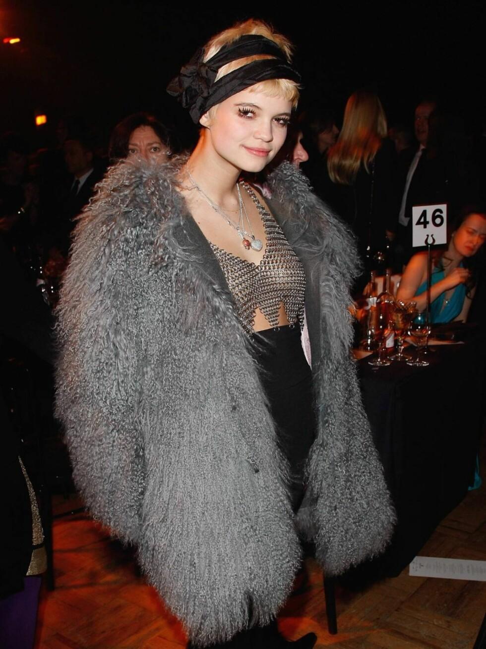 PIXIE GELDOF: Også datter av Bob Geldof og moteikon, modell, samt diverse andre ting.  Foto: All Over Press