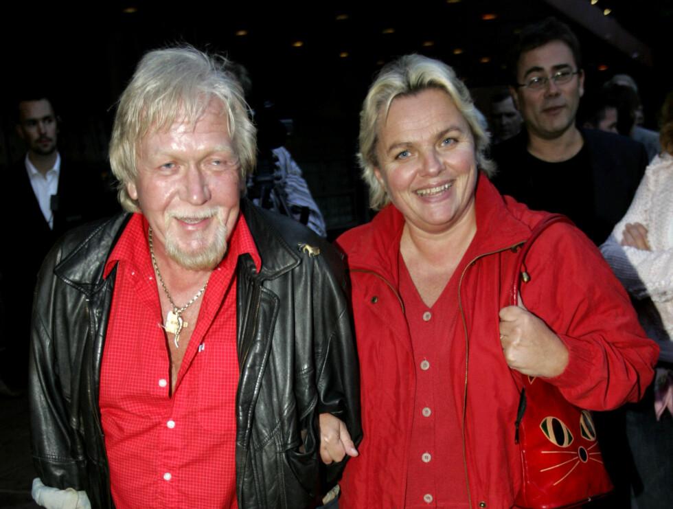 KONA: Harald Heide-Steen sammen med sin kone Gullen Øyehaug. Sammen hadde de to barn. Foto: SCANPIX