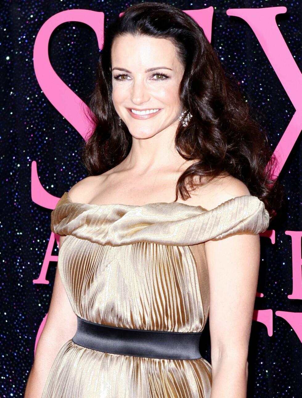 STRÅLTE: Også Kristen Davis, som spiller Charlotte, strålte under premieren.  Foto: All Over Press