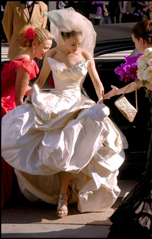I FARTA: Var Carrie for sent ute til sitt eget bryllup? Foto: Stella Pictures