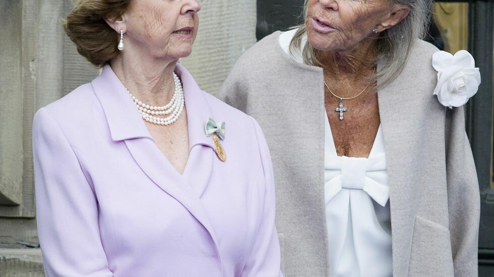 SOLFLYKTNING: Prinsesse Birgitta lever tilbaketrukket på Mallorca. Slik så hun ut i helgen under Carl Gustafs høytidelige feiring. Foto: Stella