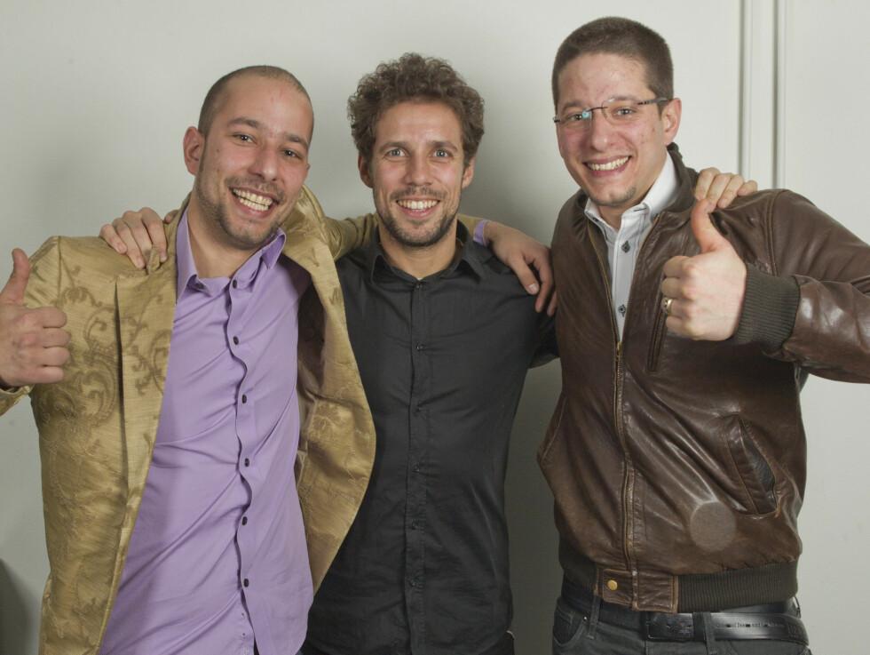 HISSIGE: Men brødrene Omar (t.h.) og Bilal (t.v.) smilte bredt under presselanseringen av årets Amazing Race. Foto: Oddvar Walle Jensen