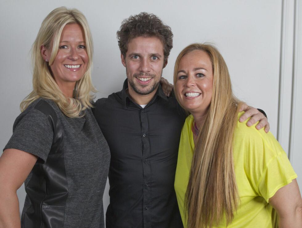 VENNINNER: Cecilie Kreutz (41) (t.v.) og Camilla Smith (43) med Freddy dos Santos. Foto: Oddvar Walle Jensen