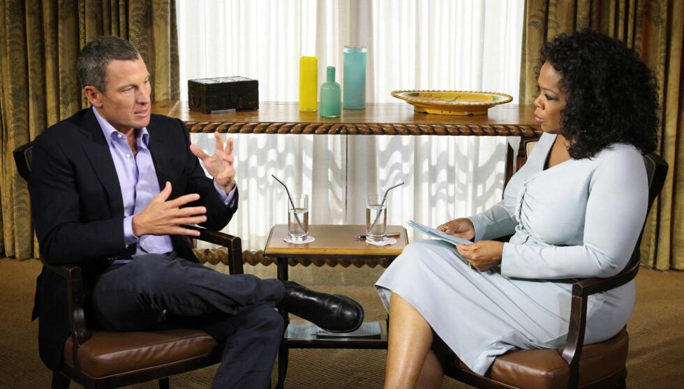 SJOKK-INTERVJU: Skandalesyklisten Lance Armstrong innrømmet overfor Oprah Winfrey å ha dopet seg gjennom store deler av karrieren. At eksen Sheryl Crow skal ha visst om juksingen, sa han ingenting om.    Foto: All Over Press