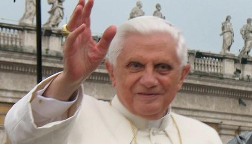 PAVEN: Tyske Benedict XVI har vært pave i Vatikanstaten siden 2005. Foto: Wikipedia/Tadeusz Górny