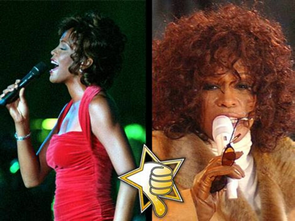 DOP-DIVA: Narkotikabruk har slitt hardt på både stemmen og utseendet til Whitney Houston.