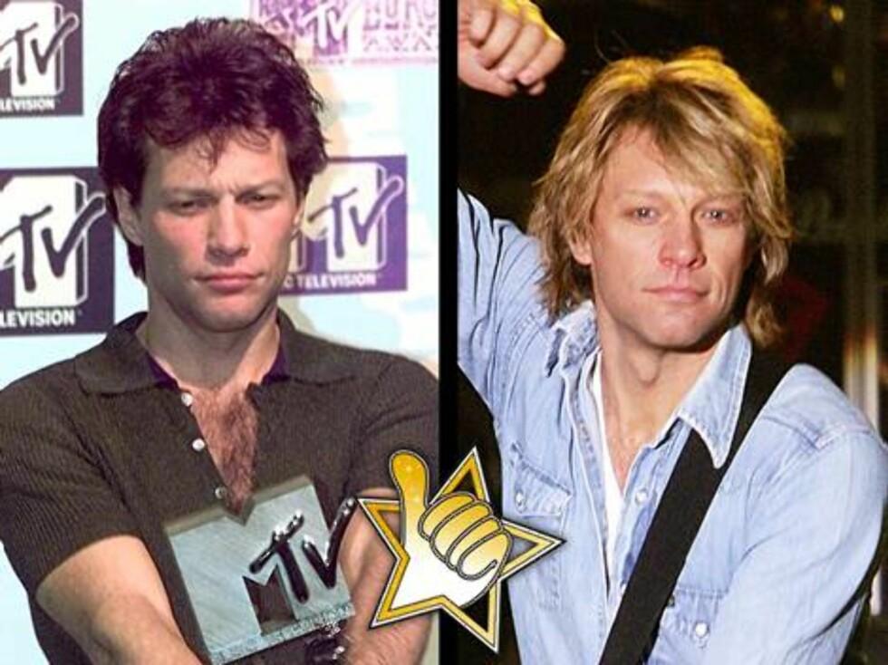 GAMMEL ROCKER: Et liv med piker, vin og sang har ikke satt nevneverdig preg på nå 44 år gamle Jon Bon Jovi.