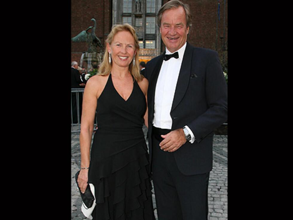 HØYTFLYVENDE: Norwegian-sjef Bjørn Kjos og kona Gerd Helene gledet seg til festen. Foto: Tore Skaar