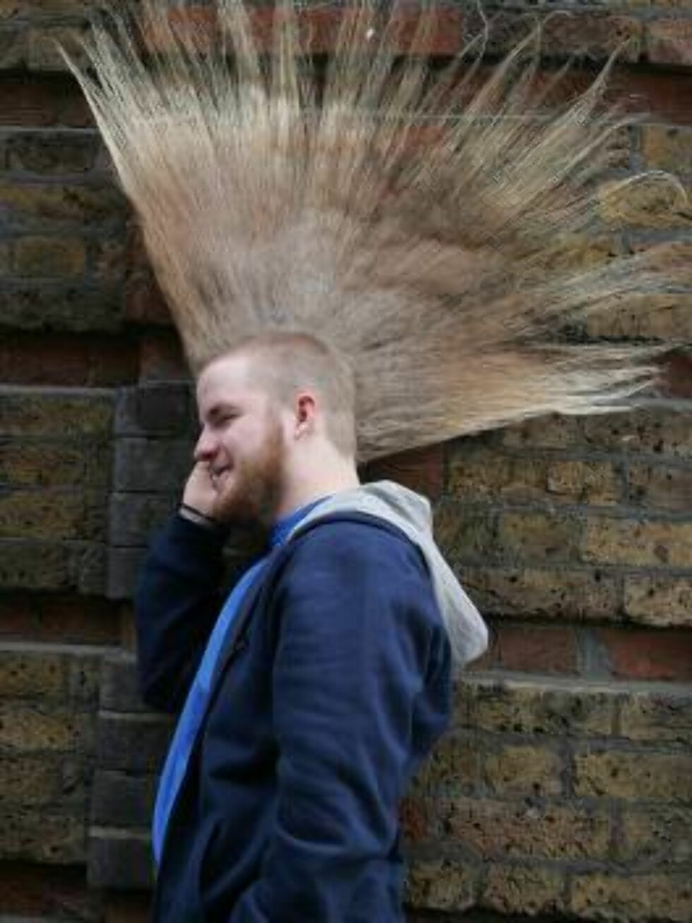 London 2006-09-28  Aaron Studham, 16, from Massachussetts, has grown a part of his body to world extreme lengths and quality for an entry in  the 2007 edition of Guiness World Records. Aaron boasts a 53,35 cm high mohican, which started off  as a dare wit Foto: Stella Pictures