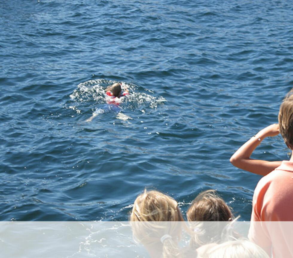 En måtte i vannet etter flaskeposten - Kragerø Foto: Unni Eiklid