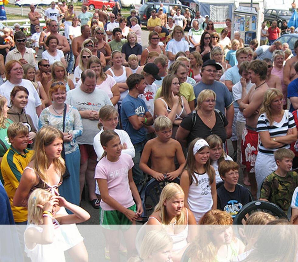 Blide folk på Rørestrand Camping Horten Foto: Unni Eiklid
