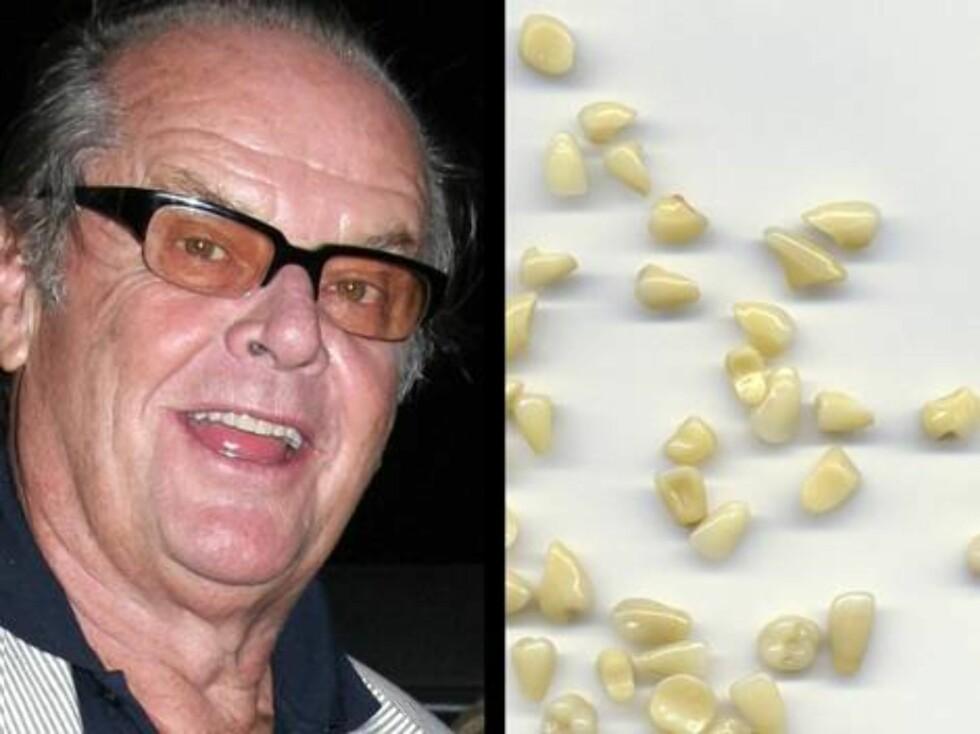 EBAY: I 2001 prøvde en kar å selge det han mente var Jack Nicholsons melketenner. En entusiast kjøpte dem for 70.000 kroner ... Foto: All Over Press