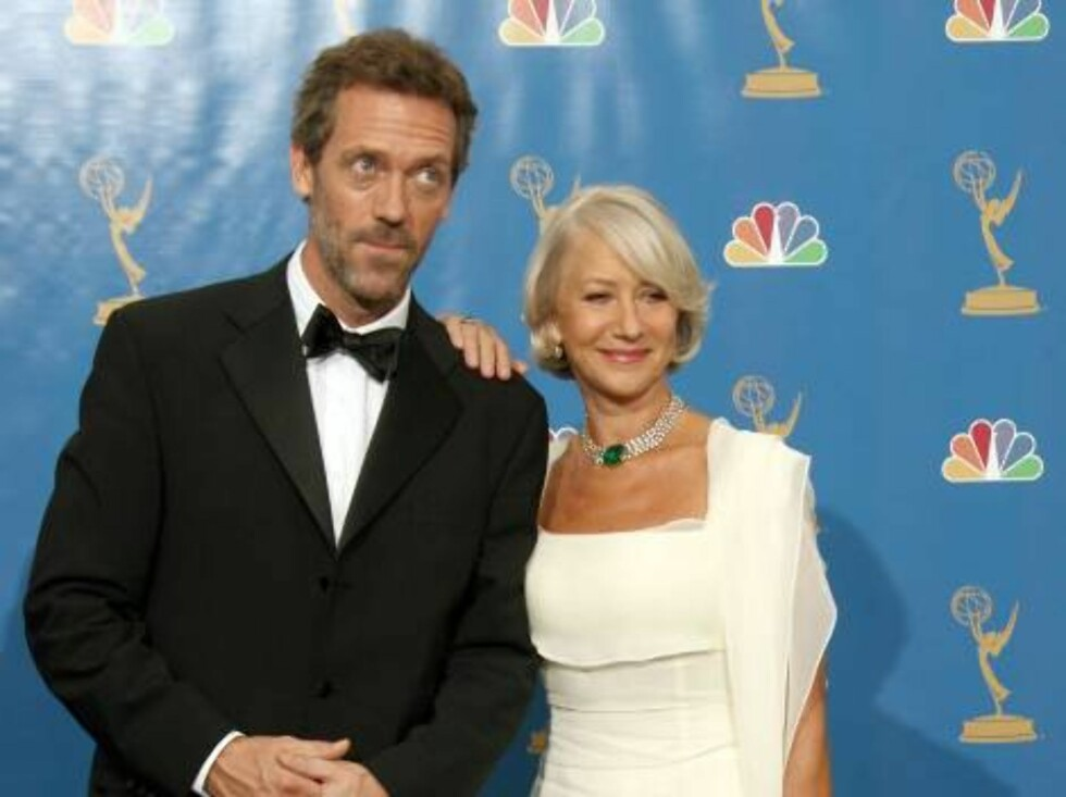 LOS ANGELES - AUGUST 27:  Presenters Hugh Laurie and Helen Mirren pose in the press room at the 58th Annual Primetime Emmy Awards at the Shrine Auditorium on August 27, 2006 in Los Angeles, California.  (Photo by Kevin Winter/Getty Images) *** Local Capti Foto: All Over Press