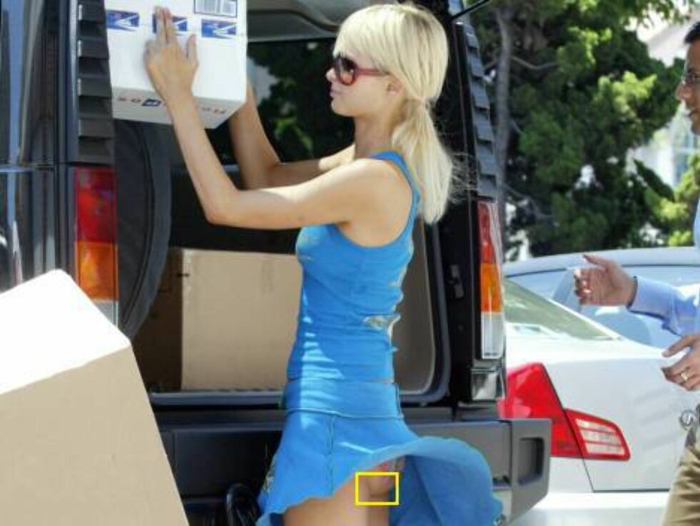Paris Hilton had a hair-raising experience in her Hummer H2!  The eldest Hilton heir met her younger half and a pal at a Beverly Hills cafe for lunch.  After eating, she stopped by the post office to pick up some packages when a gust of wind picked up her Foto: All Over Press
