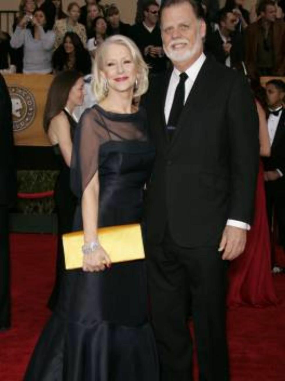 SAG: Helen Mirren og ektemannen Taylor Hackford.