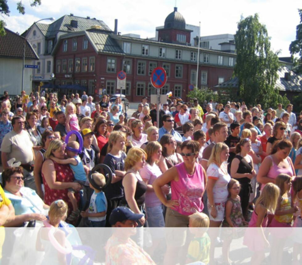 Publikum med godt humør i Lillehammer. Foto: Unni Eiklid