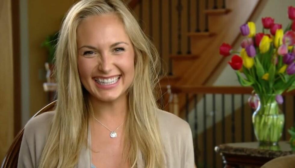 <strong>SJARMERENDE:</strong> Angela Flatland forteller på TVNorge sine nettsider at hun synes norske gutter måte å snakke på er veldig sexy. Foto: TVNorge