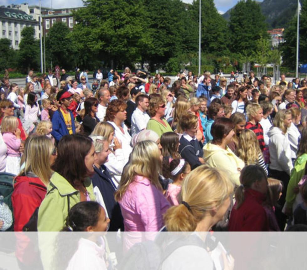 Bergens publikumet er fornøyde Foto: Unni Eiklid