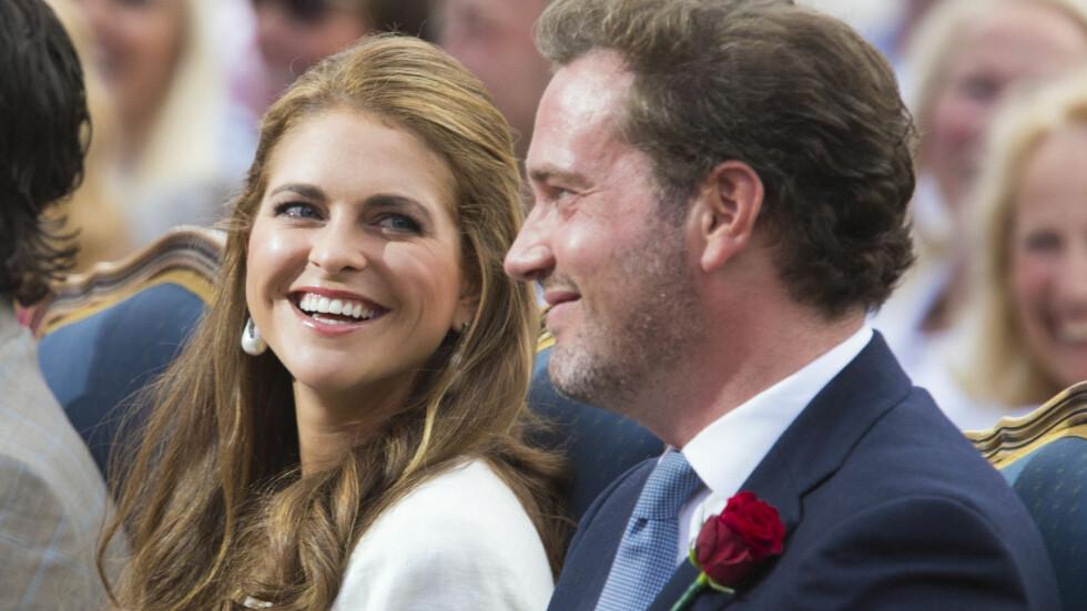 GRAVID: Prinsesse Madeleine venter barn med ektemannen Chris O'Neill. Babynyheten kommer tre måneder etter bryllupet.  Foto: FameFlynet Sweden