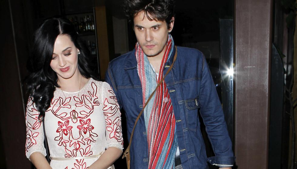 FIKK NEI: Katy Perry svarte nei da samboeren John Mayer spurte om hun ville gifte seg. Foto: All Over Press