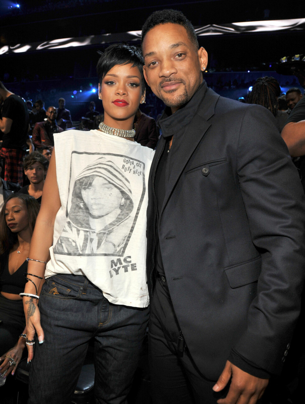MTV MUSIC VIDEO AWARDS 2013: Pappa og skuespiller Will Smith koste seg med Rihanna. Foto: WireImage/Getty Images/All Over Press