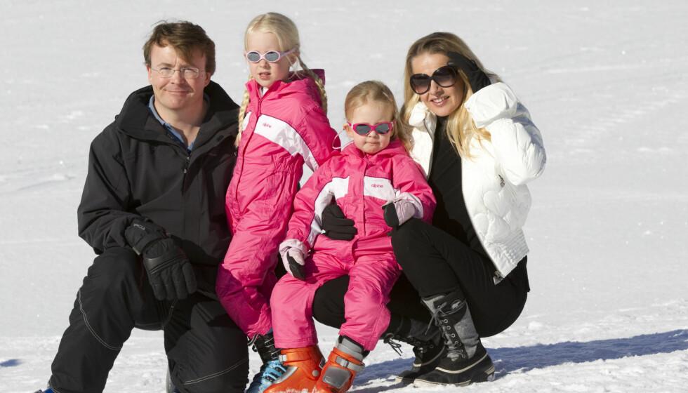 MISTET PAPPA: Prins Johan Friso etterlater seg kona prinsesse Mabel (45) og barna Luana (8) og Zaria (7). Foto: All Over Press