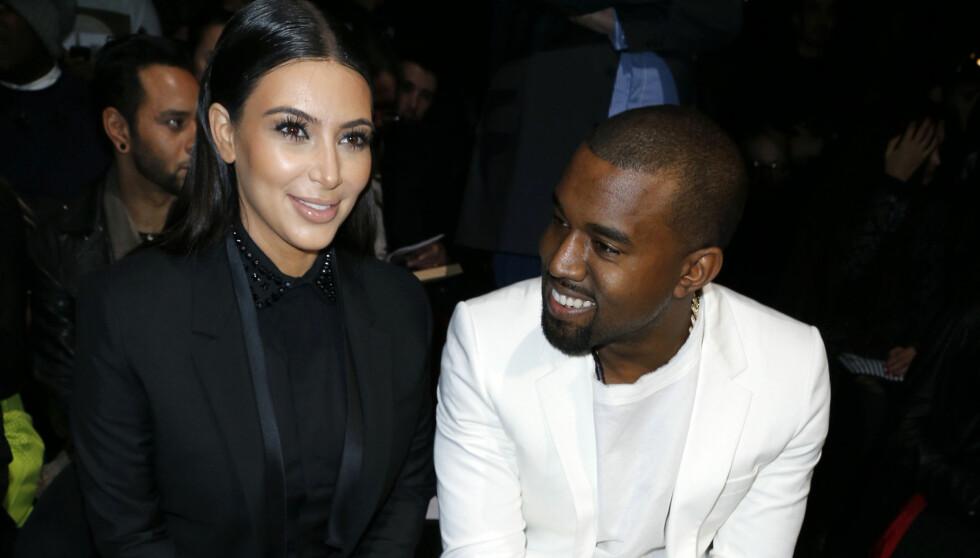 ENDELIG: Kim Kardashian og Kanye West kan endelig smile - nå er hun en skilt kvinne - og snart blir paret foreldre for første gang. Foto: FameFlynet