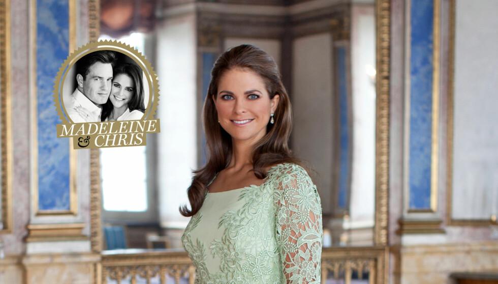 BRUDEKJOLEN ER KLAR: Ifølge avisa Expressen har prinsesse Madeleine valgt en kjole fra luksusdesigneren Valentino. Foto: Kungehuset.se