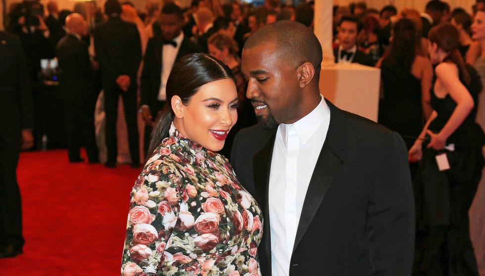FIKK EI JENTE: Kim Kardashian og Kanye West er stolte foreldre. Foto: All Over Press