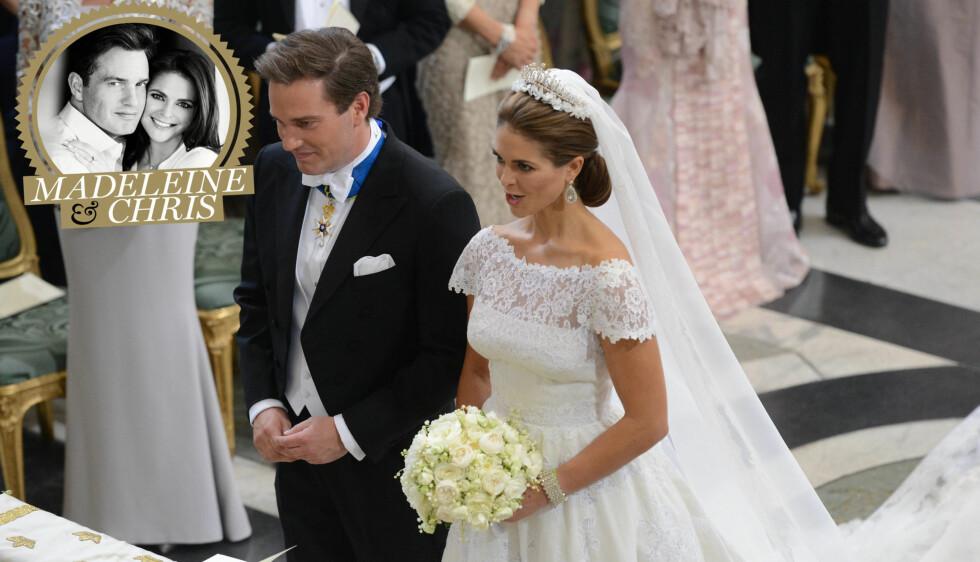 BRYLLUPSTABBE: Chris O'Neill gikk surr i prinsesse Madeleines mange navn under vielsen lørdag ettermiddag.  Foto: FameFlynet Sweden