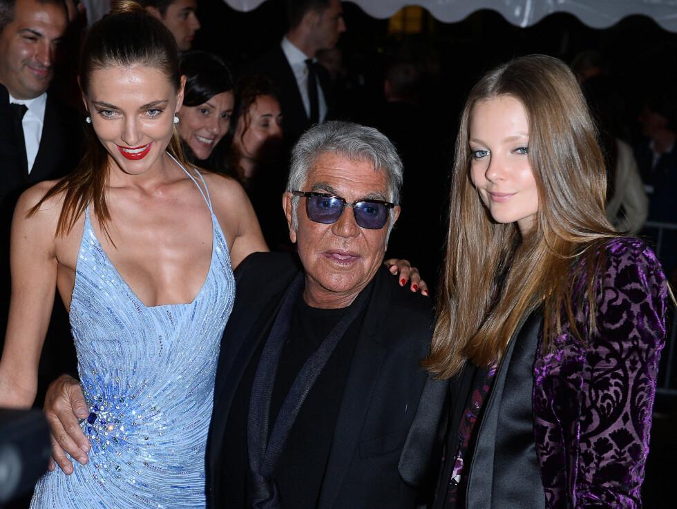 OMSVERMET: Roberto Cavalli elsker å omgi seg med vakre kvinner som han inviterer til luksusfester på sin yacht.  Foto: All Over Press