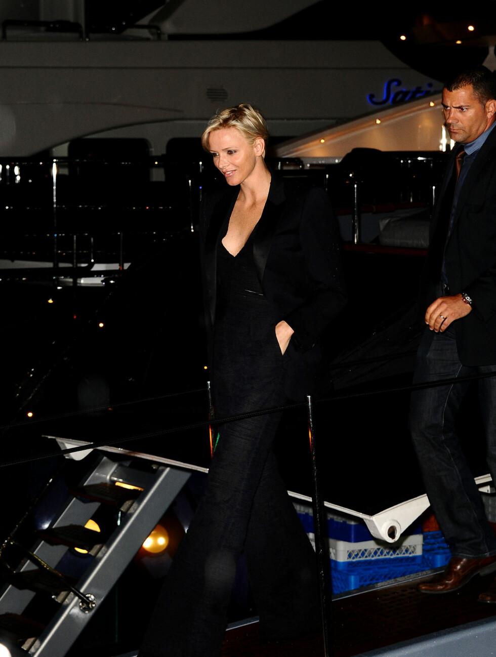 ROYAL GJEST: Prinsesse Charlene av Monaco kom uten ektemannen.  Foto: All Over Press