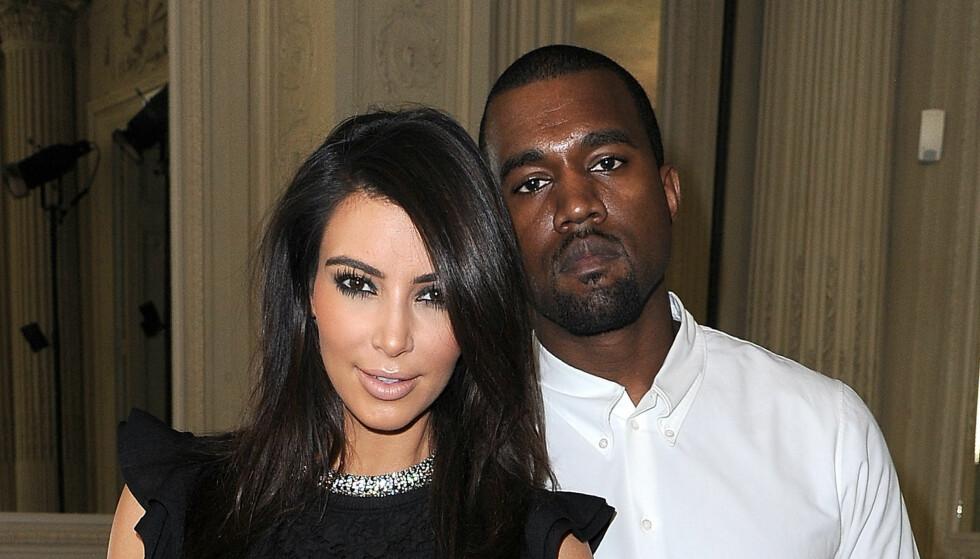 VORDENE FORELDRE: Neste måned blir Kim Kardashian og Kanye West mor og far for første gang. Foto: All Over Press