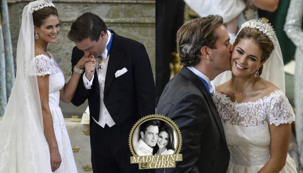 VAKKER BRUD: Prinsesse Madeleine så fantastisk ut i brudekjolen, som var laget av Valentino Garavani. Foto: NTB scanpix